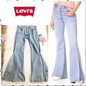 NWOT Levi's 501 Reworked High Rise Flare Jeans